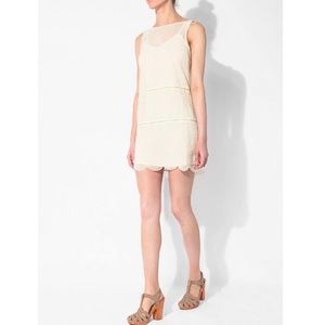 BB Dakota ivory chiffon dress small